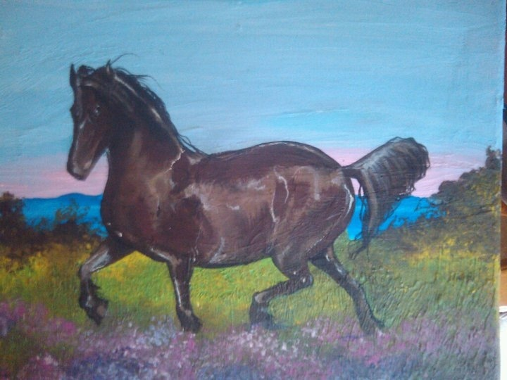 Horse, acrylic on canvas by me!