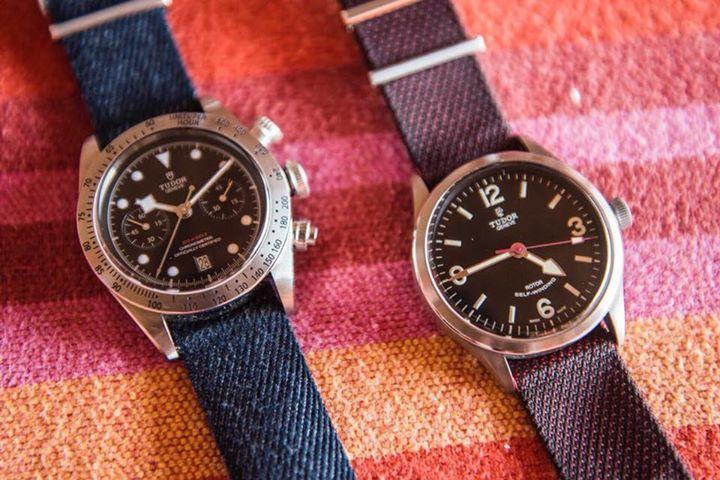 #TudorMx te invita a desafiar toda norma con su lema #BornToDare, aquí un Heritage Ranger y un Black Bay Chrono con correas de tela para los fanáticos de la aventura.  #WatchesWorld, los relojes de tu vida.  Tudor Watch