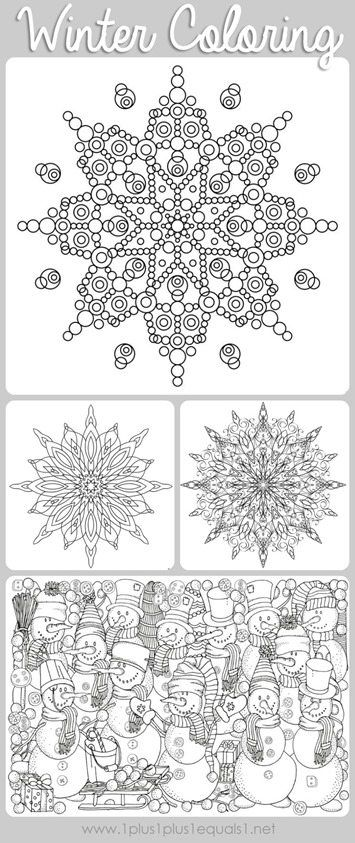 Winter Doodle Coloring Pages