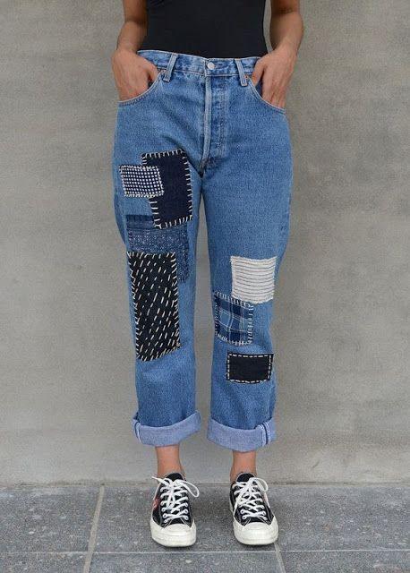 Personaliza tus jeans gratis – Patchwork jeans DIY ★★★★★ 417 Opiniones…