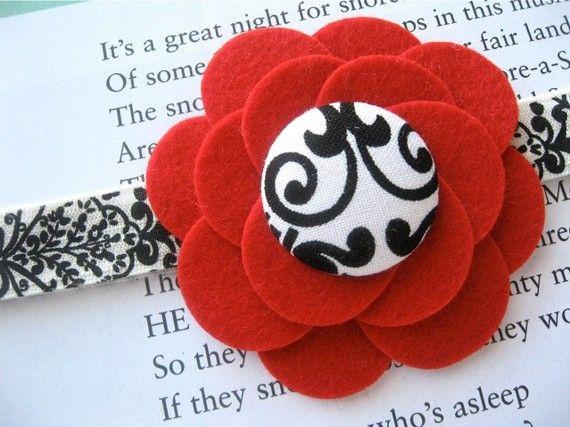 wool felt flower