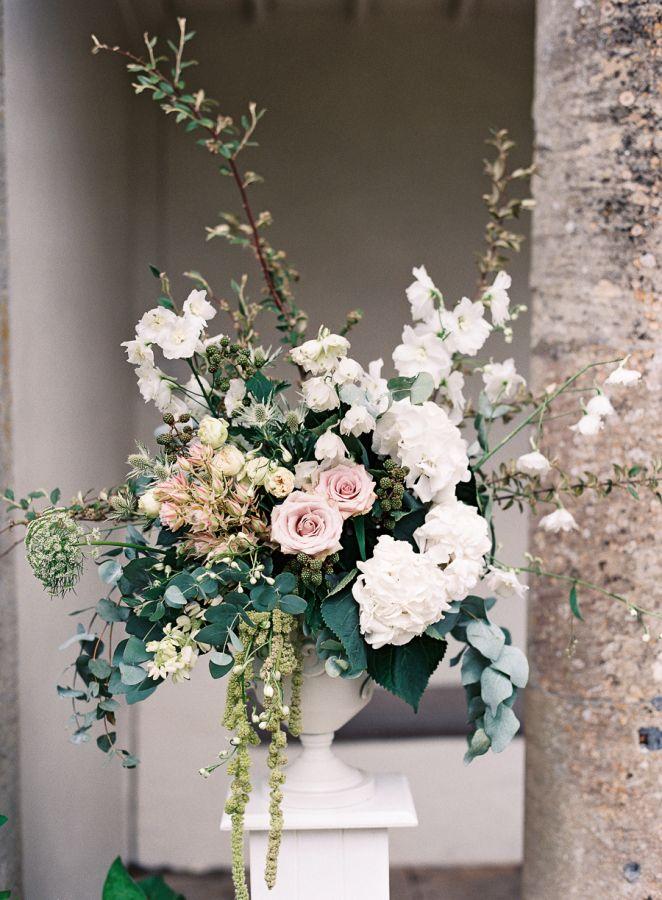 Romantic garden wedding florals: http://www.stylemepretty.com/2016/02/23/classic-english-garden-cotswolds-wedding/   Photography: Depict Photography - http://www.depict-photography.com/