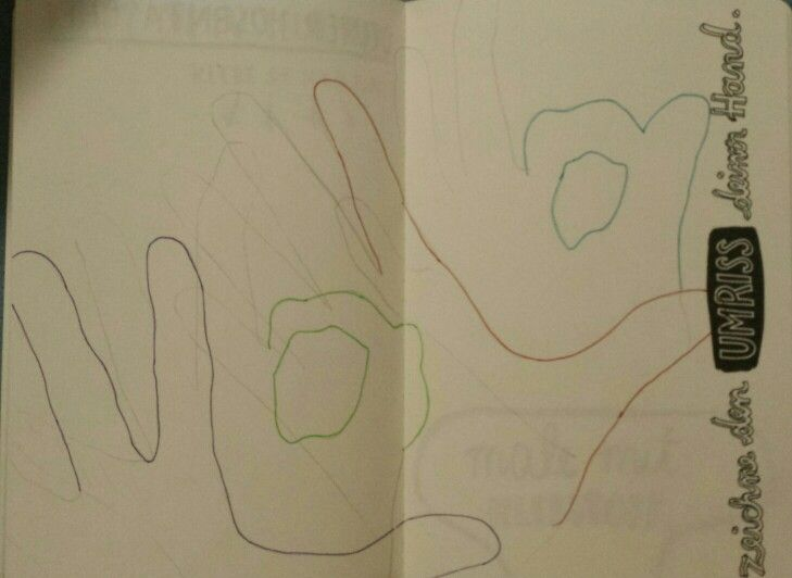 Trace your hand.#wreckthisjournal.