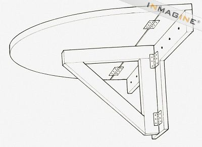 wall mounted folding desk plans