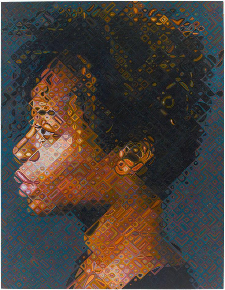 Chuck Close Paintings Bill Clinton