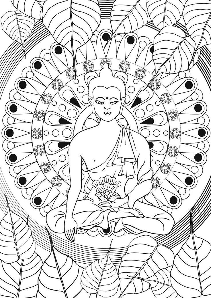 Colouring Secret Gardens Mandala Coloring Pages Anti Stress Death Zen Buddha Dreams Mandalas