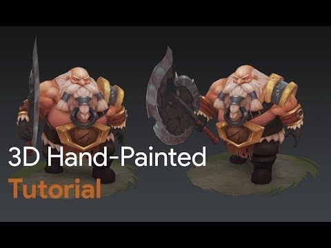   Game Art   3D Hand-Painted character dwarf for games tutorial - YouTube