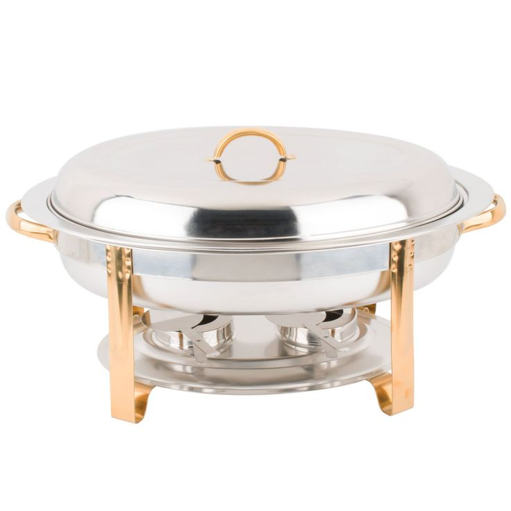 6 Quart Chafing Dish | 6 Qt. Chafing Dish with Gold Accent, $35.98 at WebstaurantStore.com, 6/2/15