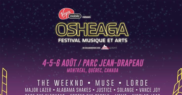 Virgin Mobile présente OSHEAGA Festival Musique et Arts en collaboration avec Coors Light ayant lieu les 4-5-6 août au Parc Jean-Drapeau, Montréal.