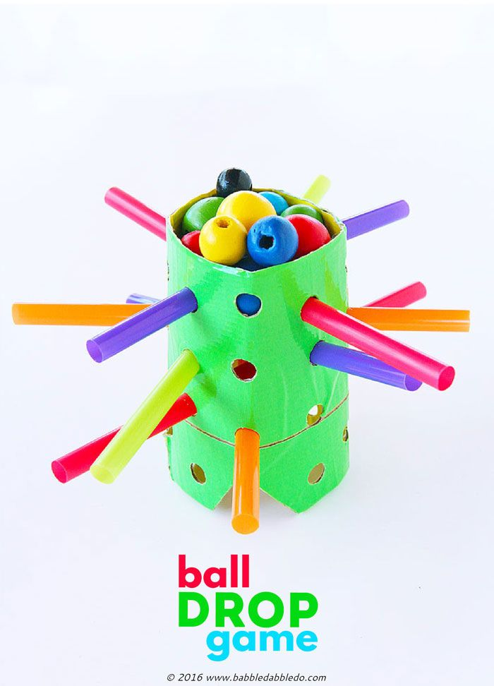 Craft Ideas For Kids Videos Part - 28: DIY Game For Kids: Ball Drop Game