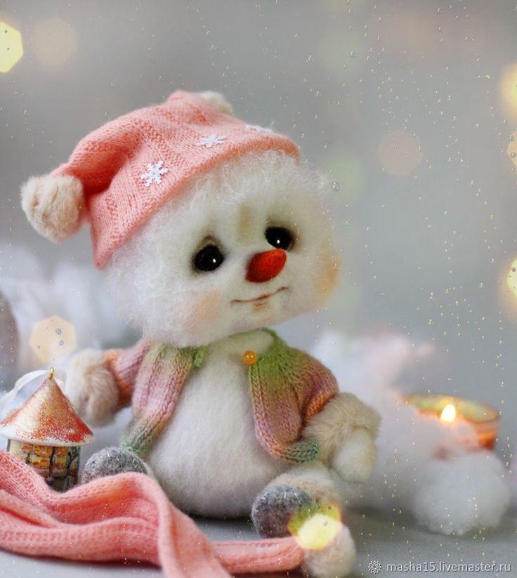 валяние из шерсти фото новогодние