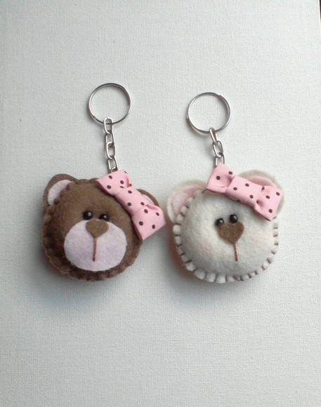 felt bear couple  - Cute teddy keyrings ❥Teresa Restegui http://www.pinterest.com/teretegui/❥