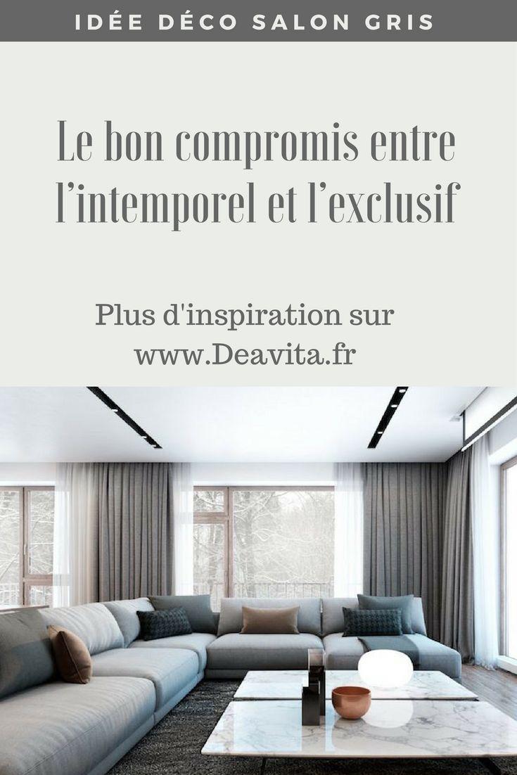 Idée Déco Salon Gris U2013 Le Bon Compromis Entre Lu0027intemporel Et Lu0027exclusif