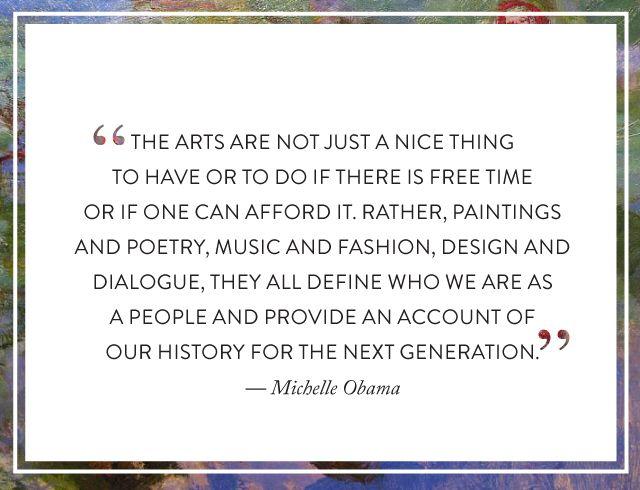 so trueArt Quotes, Art Teachers, Inspiration, Michelle Obama, Artsmichel Obama, Michele Obama, Obama Quotes, Art Education, First Lady