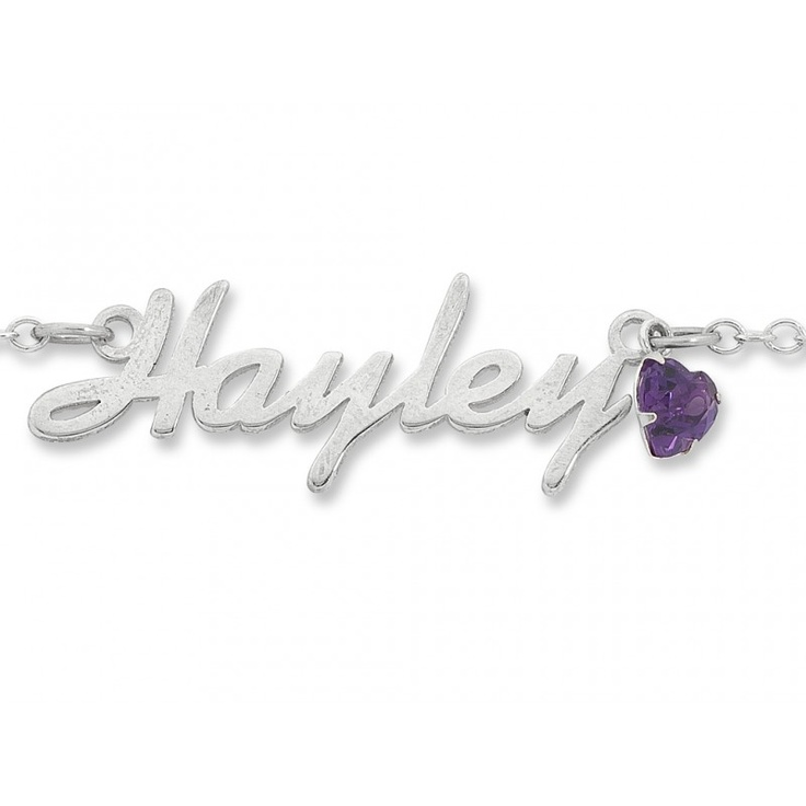 Sterling Silver Name Necklace Scroll Font