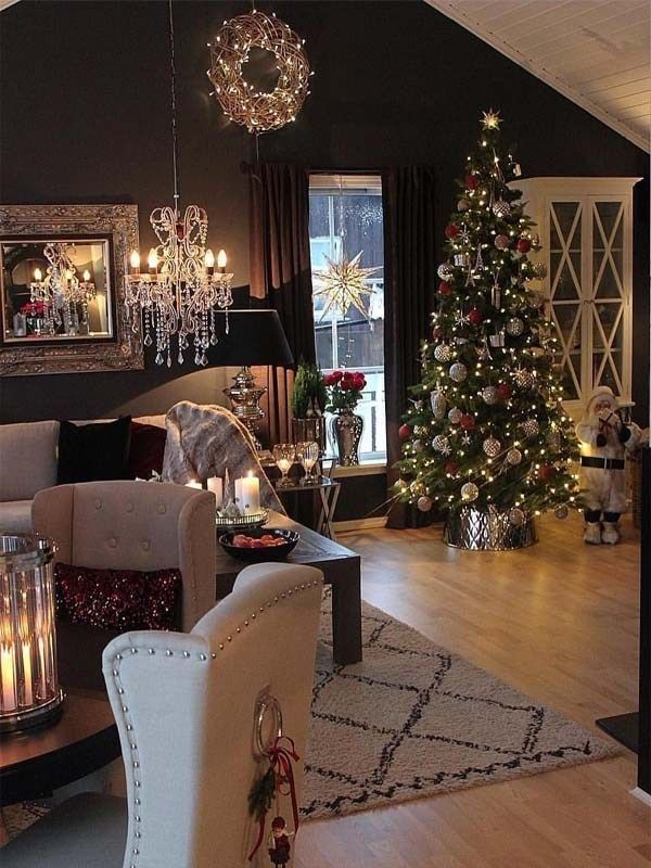 Most Beautiful Home Decorating Ideas And Interior Designs You Must Follow In Year 2019 Our Favorite Elegant Christmas Decor Holiday Decor Christmas Apartment