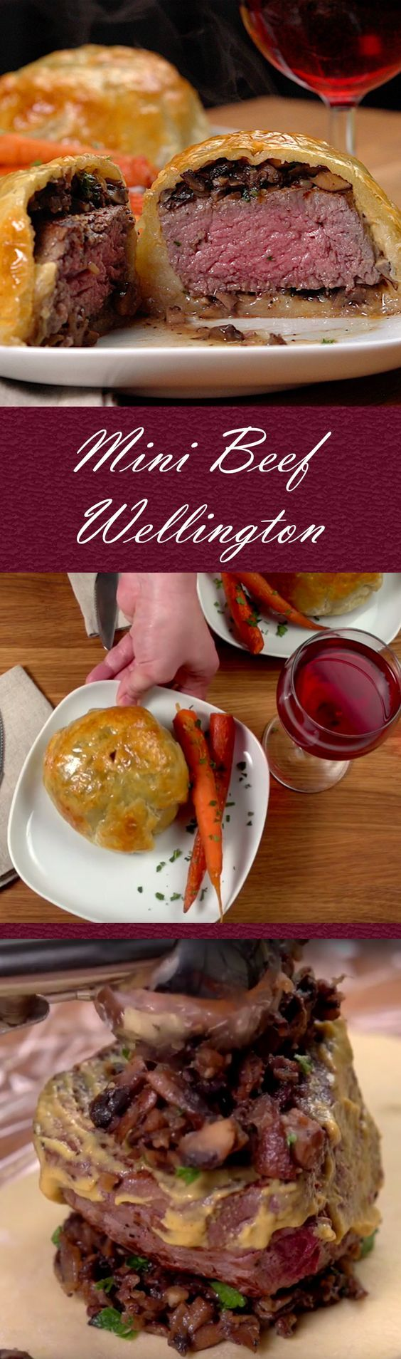 Mini Beef Wellington Recipe: Impress guests or the family with this sophisticated dish.