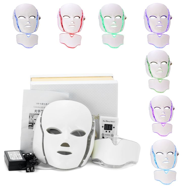 148.00$  Watch here - http://alithj.worldwells.pw/go.php?t=32730949840 - 7 Color LED Facial Neck Mask EMS Microelectronics LED Photon Mask Wrinkle Removal Anti Acne Skin Rejuvenation Face Beauty Spa