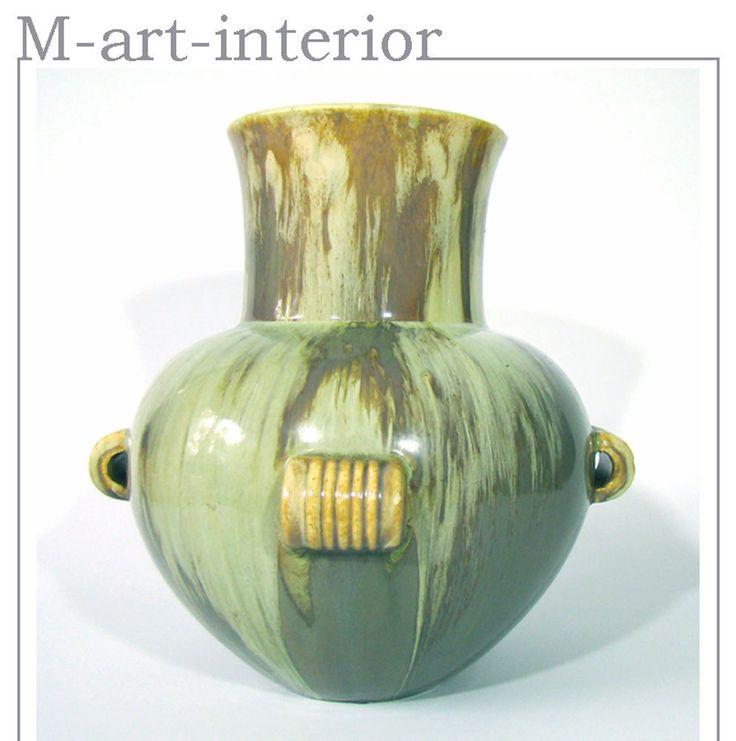 Jugendstil / Art Deco Vase Laufglasur Bürgel Keramik Stil van de Velde
