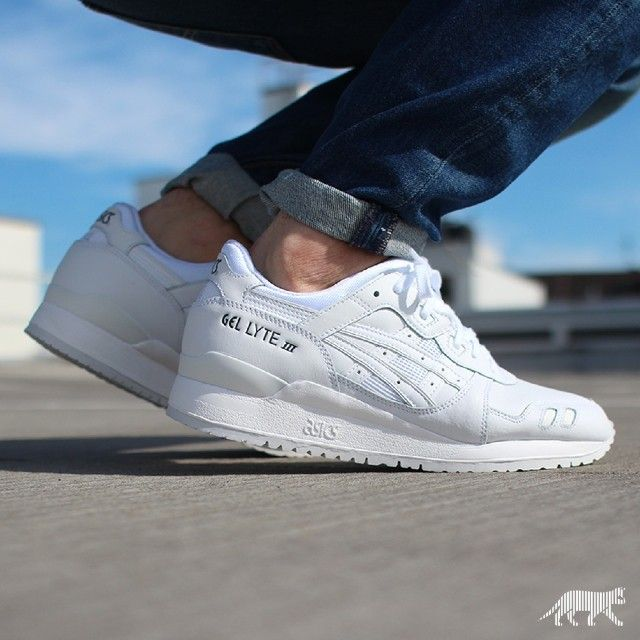 asics gel lyte iii all white for sale