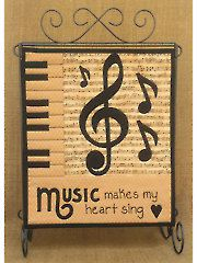 Quilt Patterns - Music Makes My Heart Sing Wall Hanging Pattern