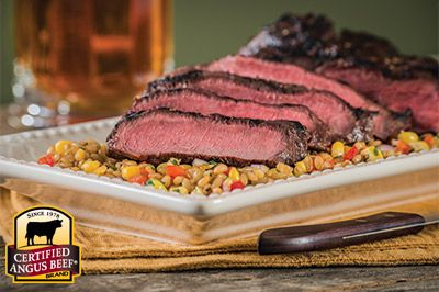 Signature Marinated Flat Iron: Taste the difference. There's Angus. Then there's the Certified Angus Beef ® brand.