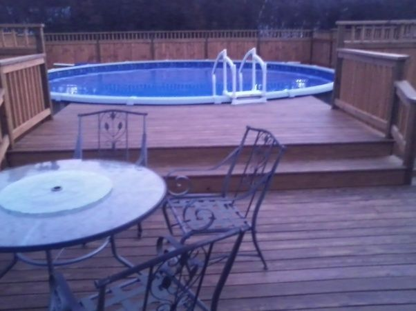 238 best images about pool hot tub ideas on pinterest for Above ground pool decks with hot tub