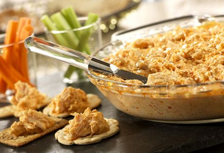 This zesty andcreamy dipfeatures the great flavor of Buffalo chicken wingswithout all the mess! Serve it at your next party...it will be a big hit!