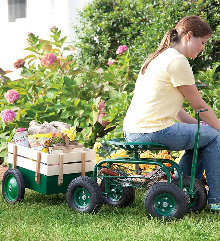Tractor Seats In Landscape Plants : With its soft pneumatic tires and swiveling tractor seat