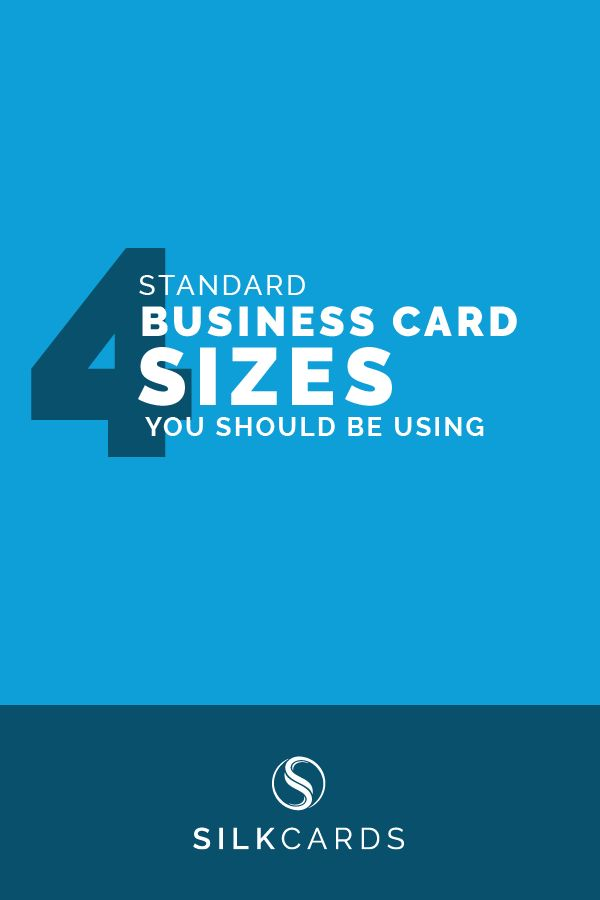 Standard Business Card Sizes You Should Be Using