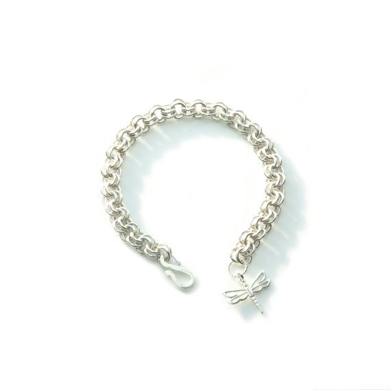 Sterling Silver 2-in-2 Chainmaille Bracelet #handmade