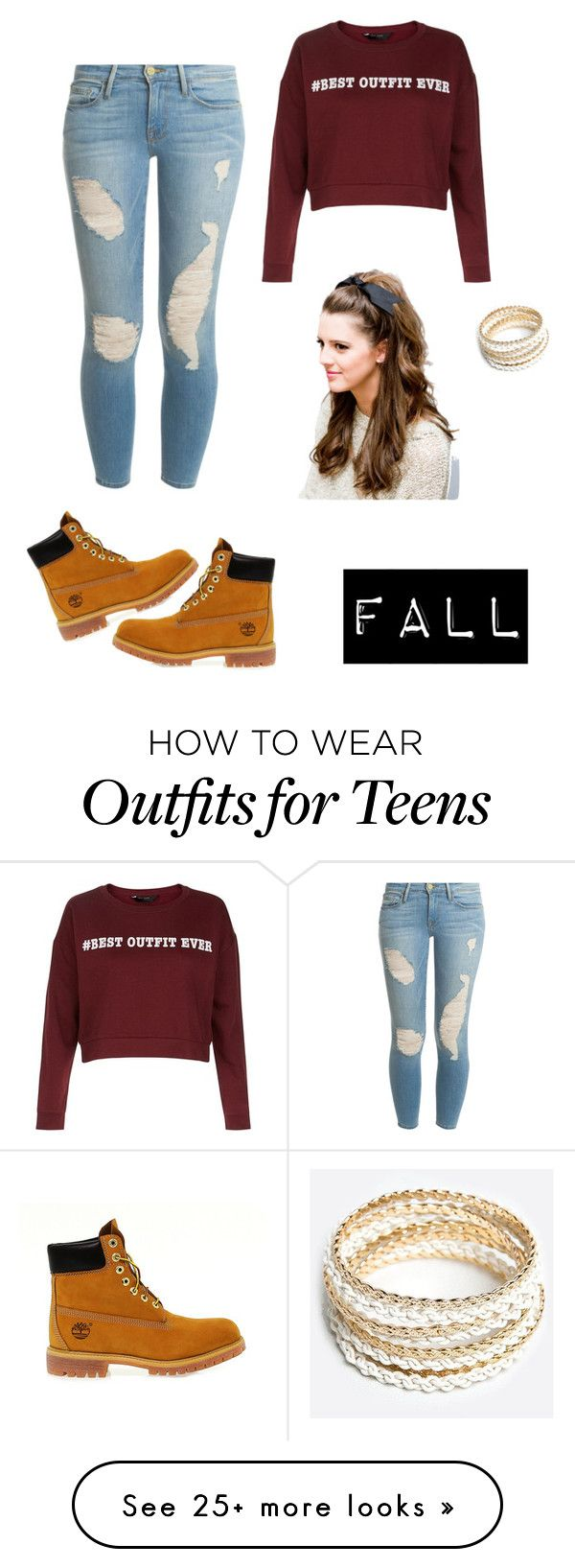 """fall essentials"" by j7nelleezsb on Polyvore featuring moda, Timberland, Frame Denim ve ZooShoo"