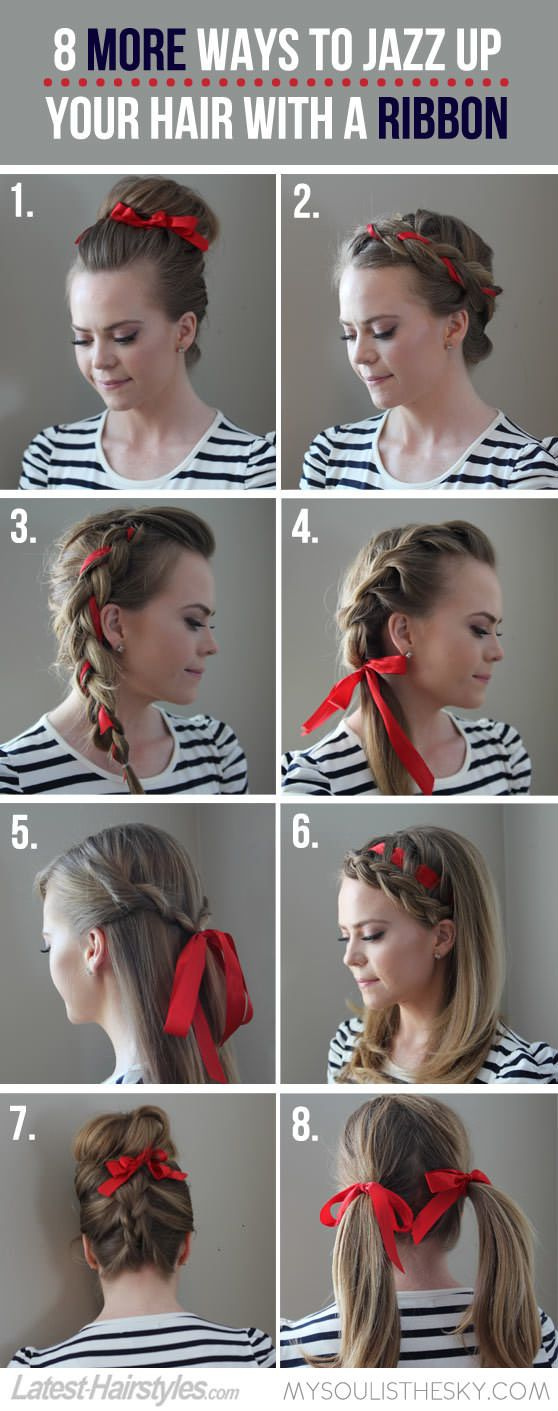 MORE Ways to Style Hair With a Ribbon! **Click through for tutorials for each look**
