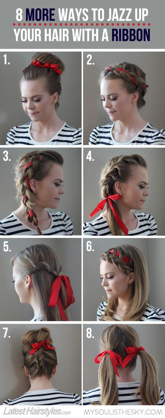 Astonishing 1000 Ideas About Ribbon Hairstyle On Pinterest Ribbon Braids Hairstyles For Women Draintrainus