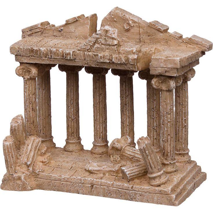 Petco medium greek temple aquarium ornament ruins for Petco fish supplies