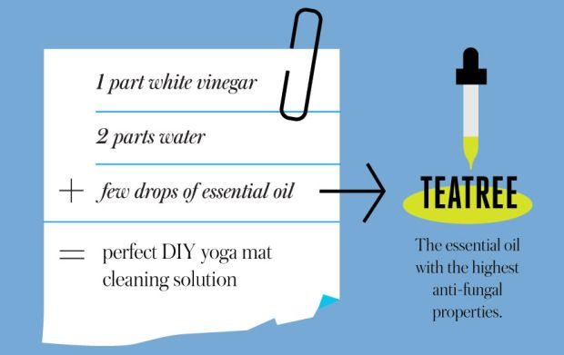 Infographic: Everything to Know About Cleaning Your Yoga Mat    Because going into chaturunga on a mat that hasn't been cleaned is not cool.