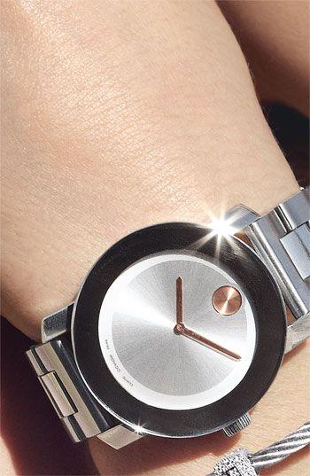 Movado 'Bold' Round Bracelet Watch   Nordstrom