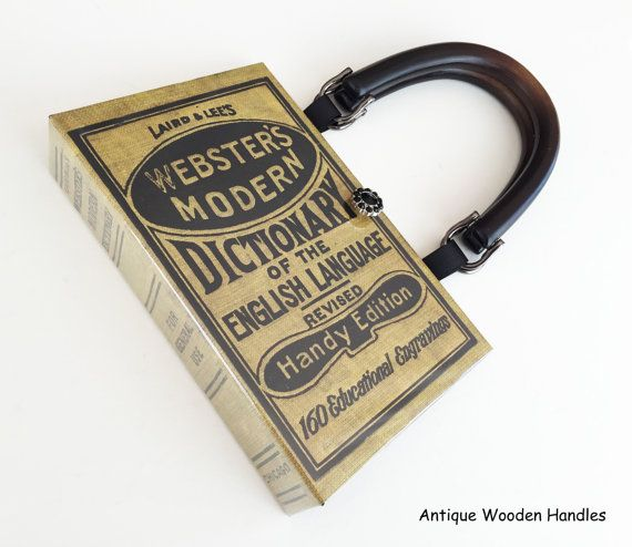 Hey, I found this really awesome Etsy listing at https://www.etsy.com/listing/292777329/websters-dictionary-book-purse