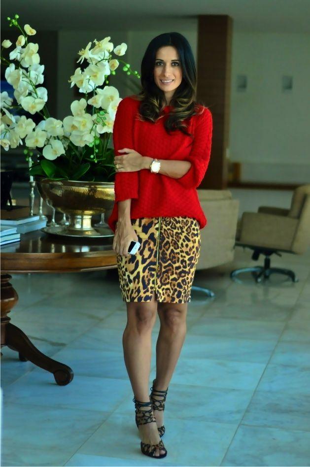 Blog da Maria Sophia │ Lifestyle and Fashion: Look: onça + vermelho + onça