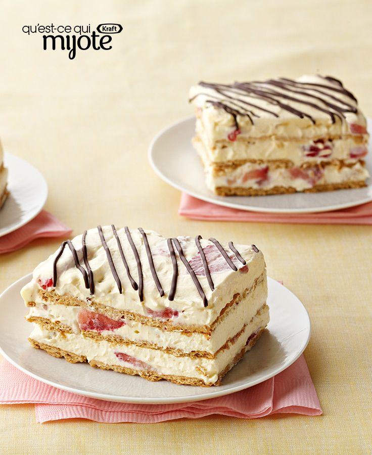 Gâteau frigidaire aux fraises #recette