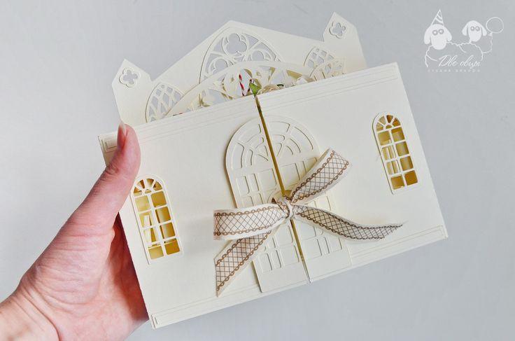 Открытка Свадьба в библиотеке - Alla Grezeva Бумажные истории