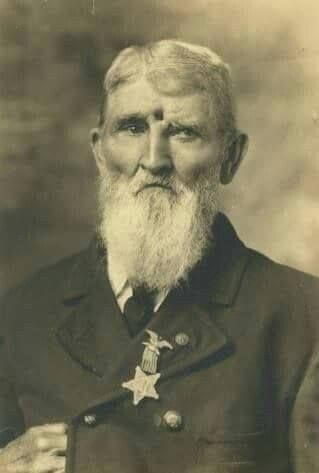 Civil War Veteran Jacob Miller of the 9th Indiana Infantry was shot in the forehead on 19 September 1863 at Brock Field at Chickamauga. He survived the shot later writing that he had a constant reminder of the Chickamauga Battlefield and the constant pain he suffered from that wound.