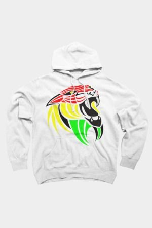 Reggae Music Lion Flag Colors
