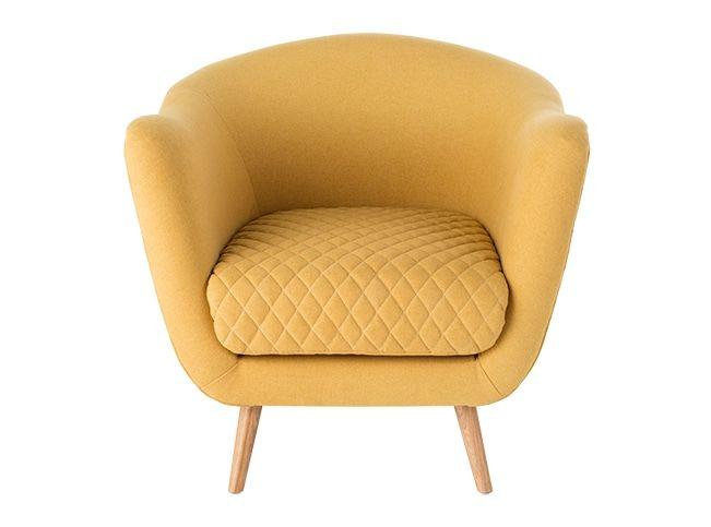 Flick, fauteuil d'appoint, jaune d'or