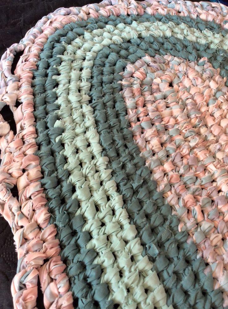 Pastels Handmade Oval Rag Rug subtle pinks