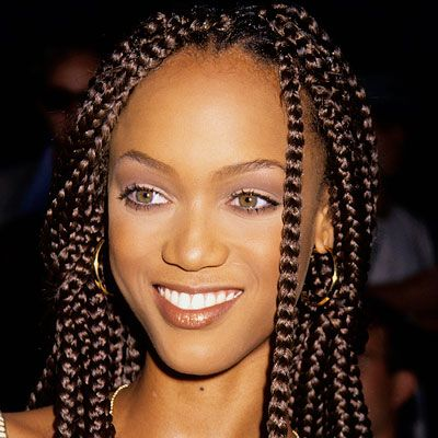 Tyra Banks - Transformation - Beauty! I love her hair and eyes in this photo....