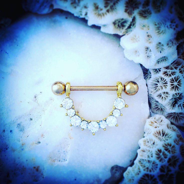 Sparkle Crystal Gold Nipple Bar | Nipple Shield 14G Body Jewelry Piercing Jewel Flower Nipple Piercing Nipple Ring Jewellery Diamond Barbell by ThrowBackAnnie on Etsy https://www.etsy.com/uk/listing/264565860/sparkle-crystal-gold-nipple-bar-nipple