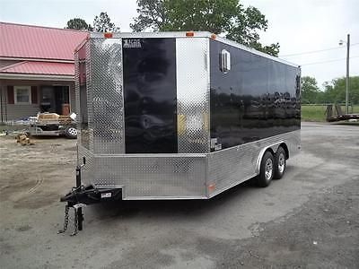 2017 8x16 V-Nose Enclosed Motorcycle Cargo Trailer New carhauler trailer 8 x 16