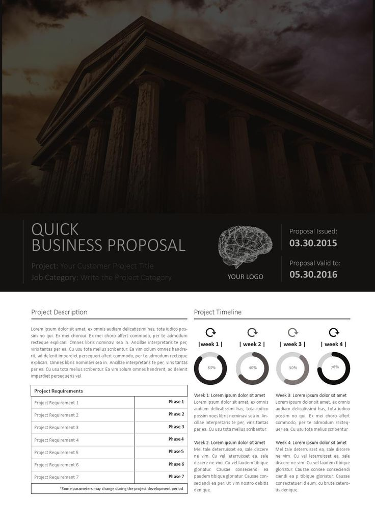 Quick business proposal template  Purchase this item on Envato: http://graphicriver.net/item/quick-business-proposal-template/10131211   CMYK & Print Ready Clean and Corporate Design A4 Format Easily color change (Global Swatch)