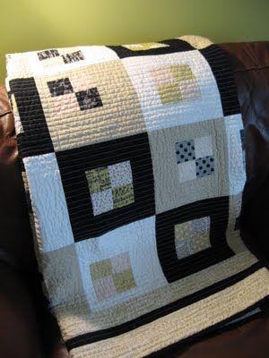 black, white and tan blocks